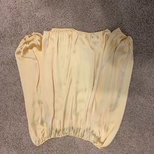 VINCE CAMUTO Yellow Long Sleeve Blouse Medium
